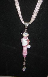 Japanese Doll Pendants w/10 Silver Strand Necklace in Alamogordo, New Mexico
