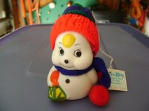Bisque-Painted Snowman Christmas Bell/Ornament in Kingwood, Texas