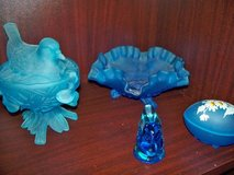 Westmoreland Bird Blue frosted covered Candy Dish in Chicago, Illinois
